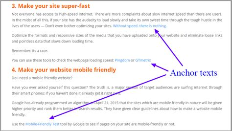 How to Create SEO Friendly Anchor Texts For Your Website
