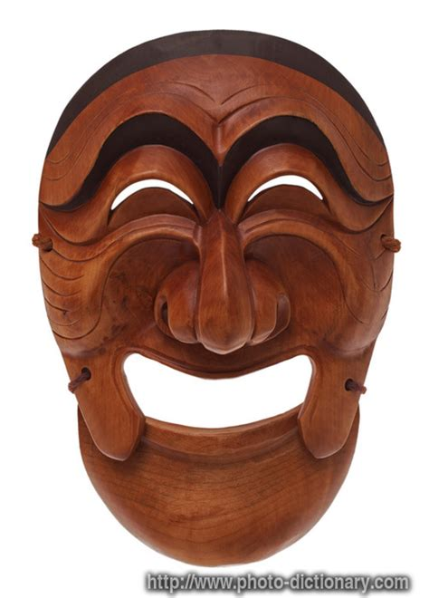 Korean mask - photo/picture definition at Photo Dictionary