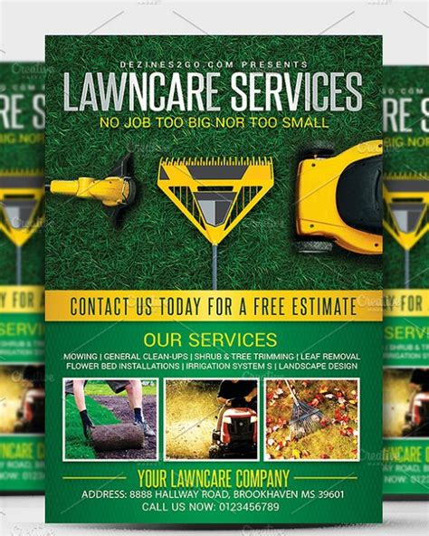 10+ Lawn & Landscaping Flyer Templates - PSD, AI, Word