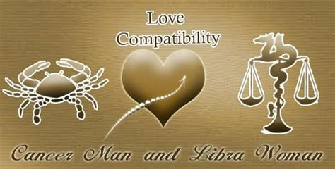 Cancer Man and Libra Woman Love Compatibility