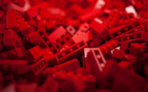 red, LEGO, Bricks, Toys, Depth of field Wallpapers HD