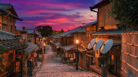 House During Evening Time In Kyoto Street HD Travel