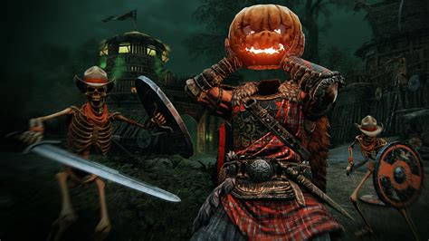 Turn into a pumpkin and smash your own head in For Honor's